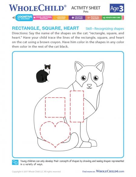 Rectangle, Square, Heart