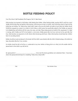 Bottle Feeding Policy