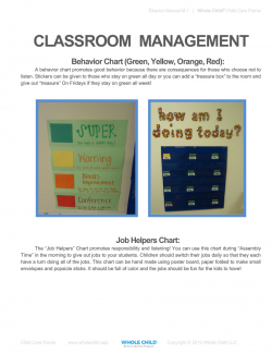 Classroom Management Manual