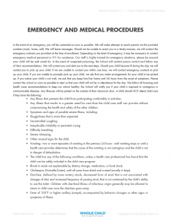 Emergency and Medical Procedures